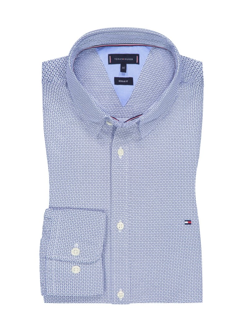 Tommy Hilfiger Casual shirt with micro print BLUE in plus size