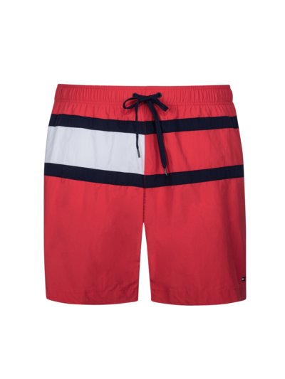 Stylish swimming trunks v RED