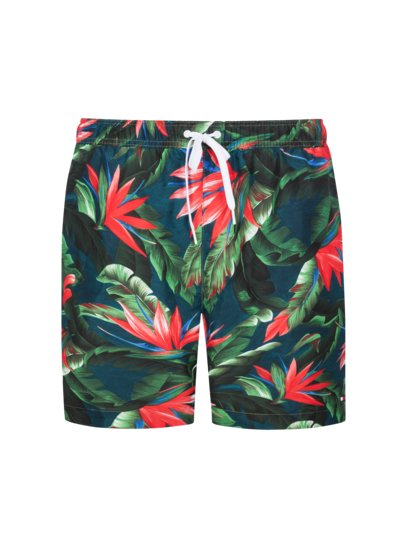 Patterned swimming trunks v MARINE