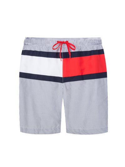 Striped swimming trunks v GREY