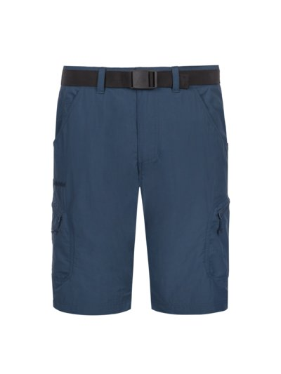 Trekking shorts with UV protection and a belt v BLUE