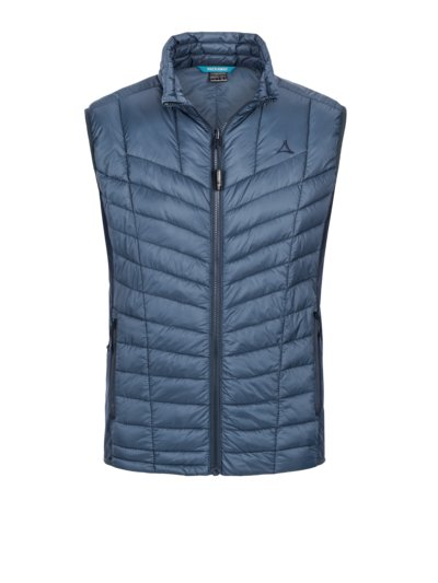 Trekking gilet with zip-in function v BLUE