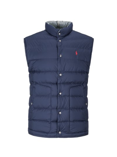 Reversible gilet with down lining v MARINE