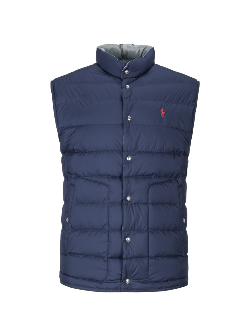 Polo Ralph Lauren Reversible gilet with down lining MARINE in plus size