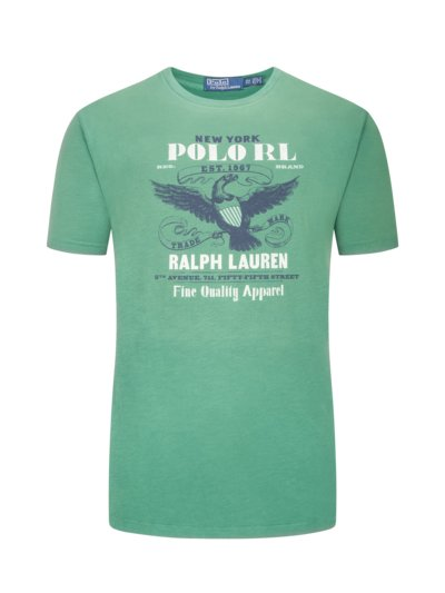T-shirt with front print v GREEN