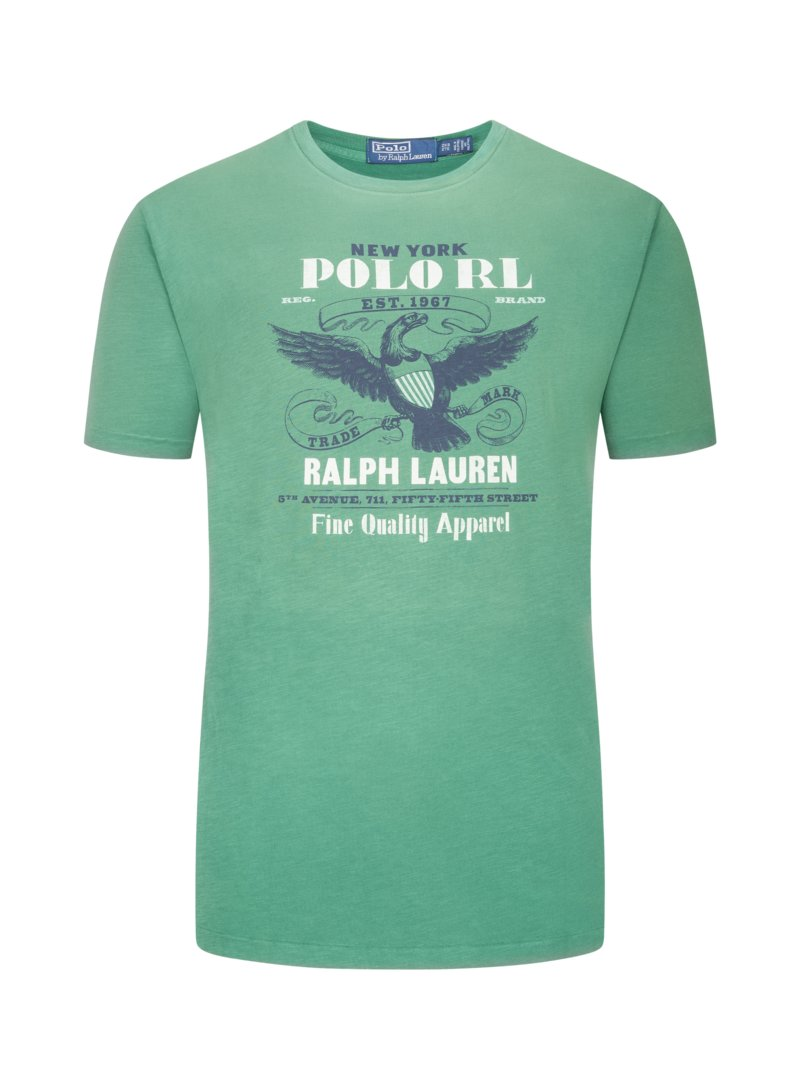 Polo Ralph Lauren T-shirt with front print GREEN in plus size