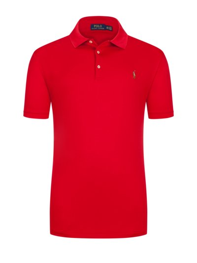Poloshirt mit Poloreiter-Stickerei in ROT