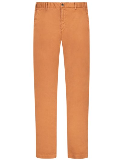 Linen blend chinos, Torino Style v ORANGE