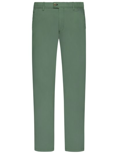 Cotton blend chinos v GREEN