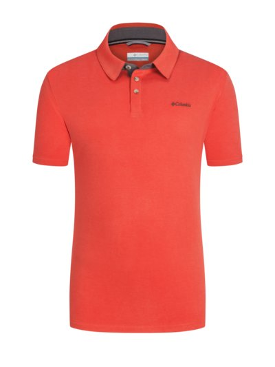 Trekking shirt in a microfibre blend v RED