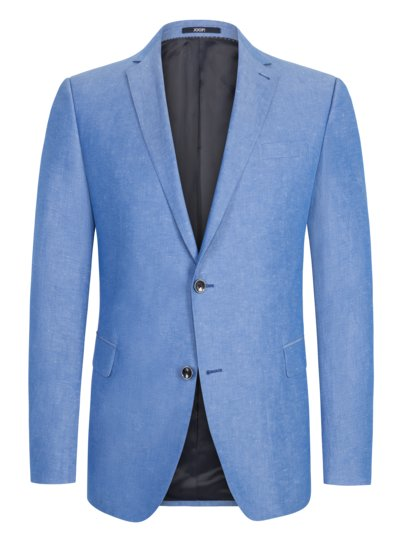 Linen blend sport coat v LIGHT BLUE