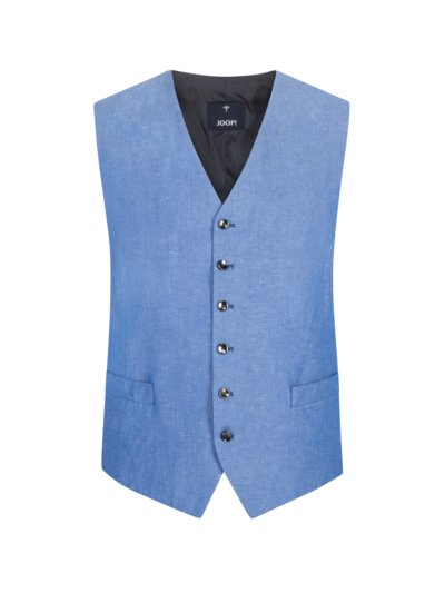 Suit waistcoat in a linen blend v LIGHT BLUE