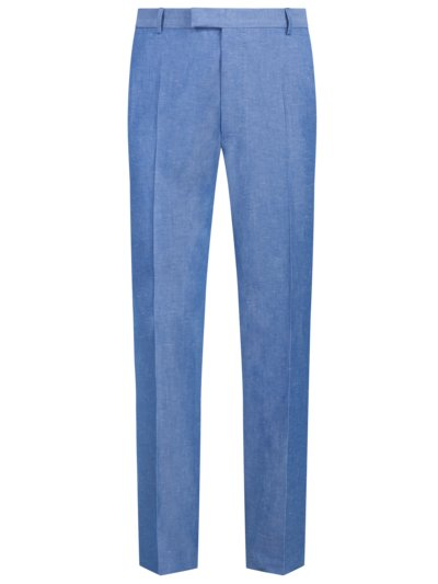 Formal trousers in a cotton and linen blend v LIGHT BLUE