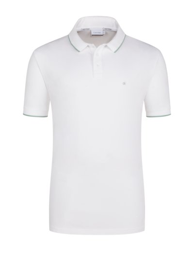 Poloshirt in bequemer Passform in WEISS
