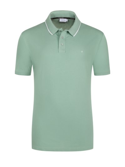 Polo shirt with a comfortable fit v GREEN