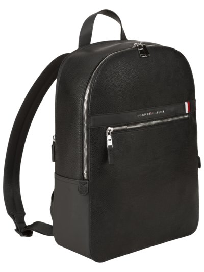 Backpack with scotchgrain texture v BLACK