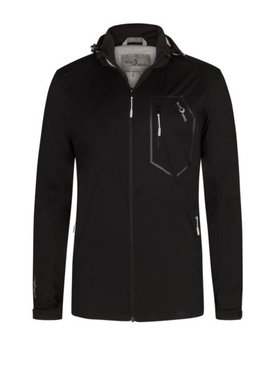Softshell jacket with removable hood v BLACK