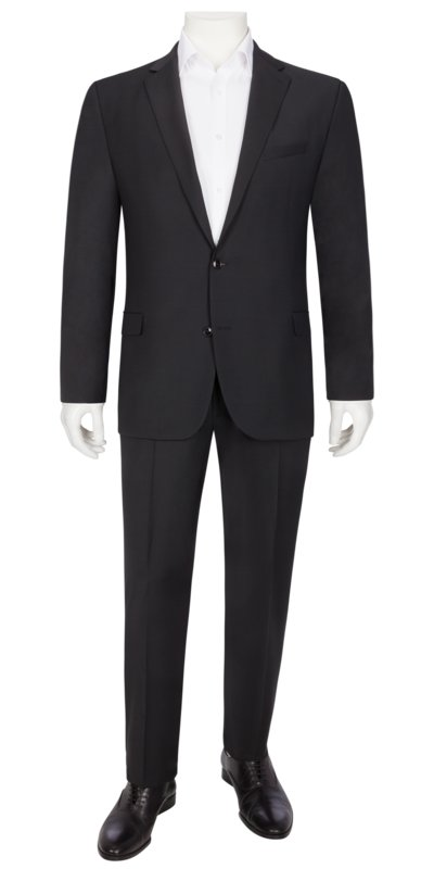 Suit separates suit with stretch aspect, Rick/Jans v BLACK