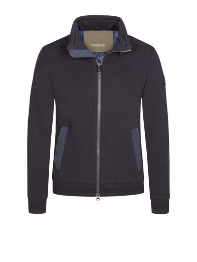 Sweatjacke mit Ellenbogenpatches in MARINE