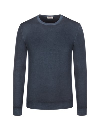 Premium sweater, round neck v BLUE