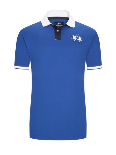Poloshirt mit Logo-Stickerei in ROYAL
