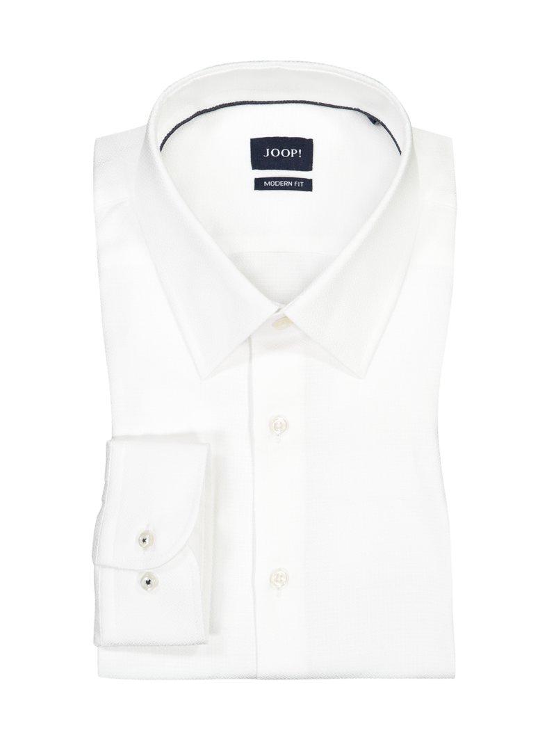 Joop! Shirt in 100% cotton WHITE in plus size