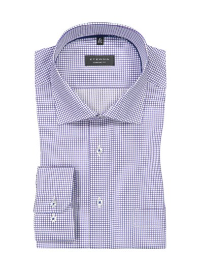 Business shirt with micro check pattern v LAVENDER