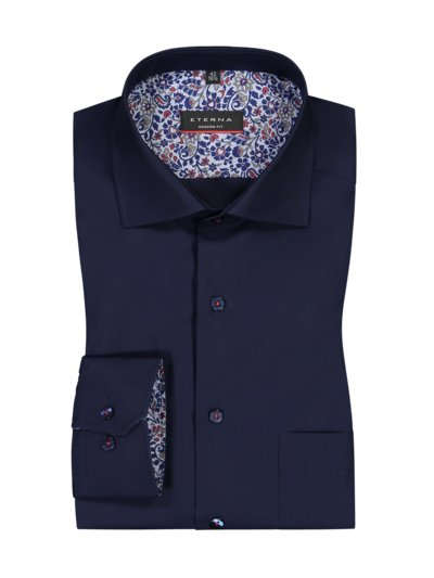 Formal shirt with breast pocket v MARINE