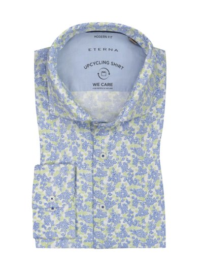 Casual shirt with floral pattern v LIGHT BLUE