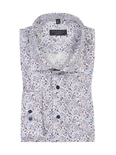 Shirt with micro print v WHITE