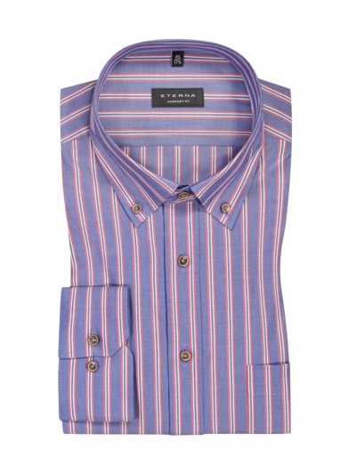 Business shirt in a striped pattern, extra long sleeves v BLUE