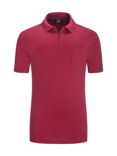 Polo shirt with zip v RED