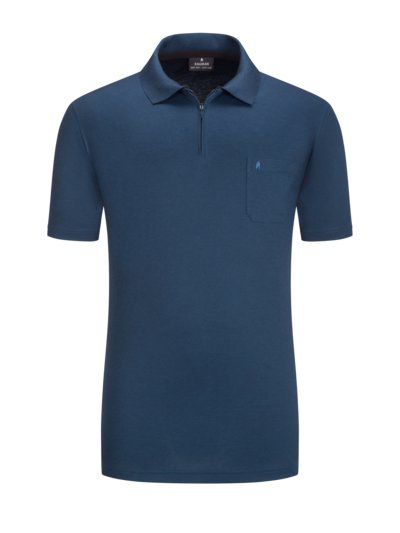 Polo shirt with breast pocket v BLUE