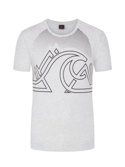 T-Shirt mit Frontprint in GRAU
