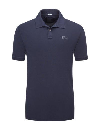 Polo shirt with stretch v BLUE