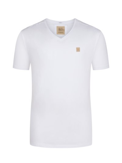 T-shirt, V-Neck v WHITE