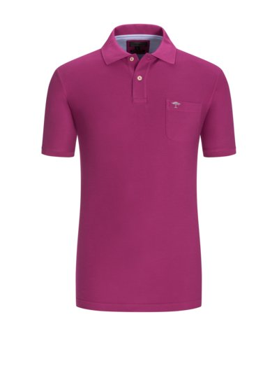 Polo shirt with breast pocket v AUBERGINE