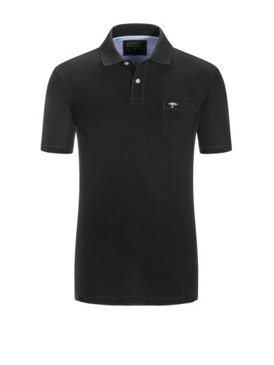 Poloshirt, extralang in BLAU