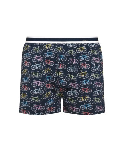 Boxer shorts with a stylish pattern v BLUE
