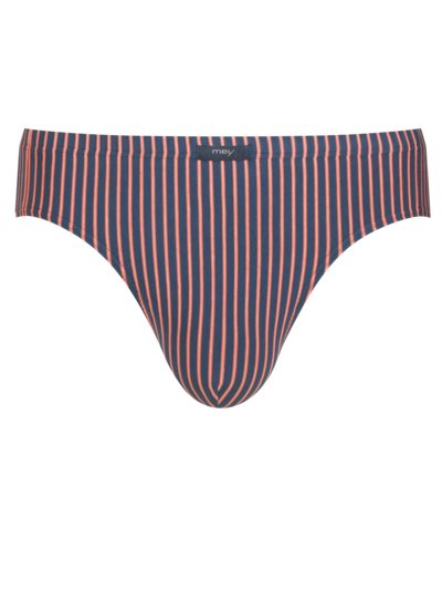 Briefs with striped pattern v RED