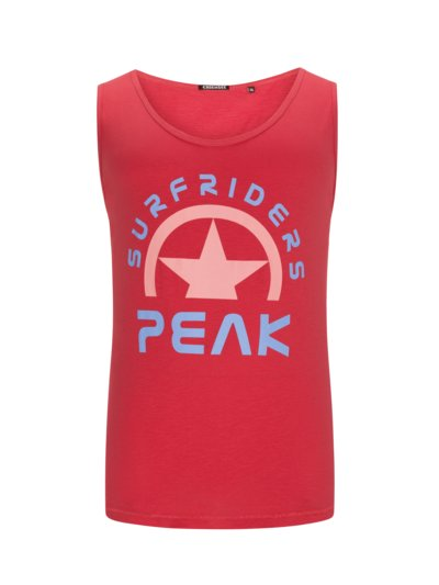 Tank Top mit Frontprint in ROT