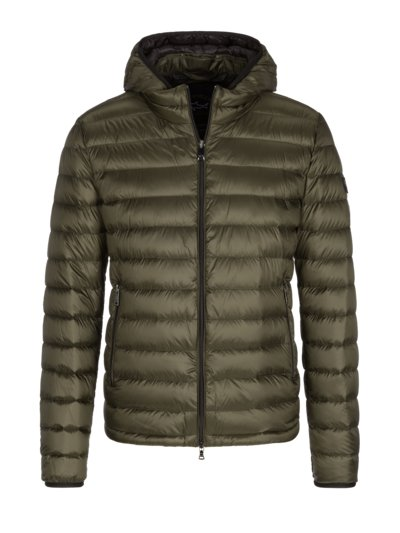 Light down jacket with removable hood v OLIVE-