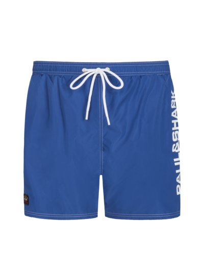 Badehose mit Logo-Applikation in BLAU