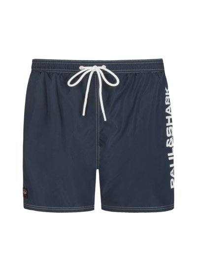 Swimming trunks with logo patch v BLUE