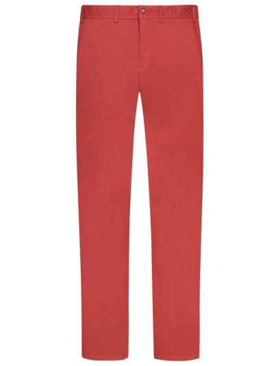 Chino in Baumwolle mit Stretch in ROT