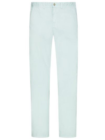 Cotton chinos with stretch v LIGHT BLUE