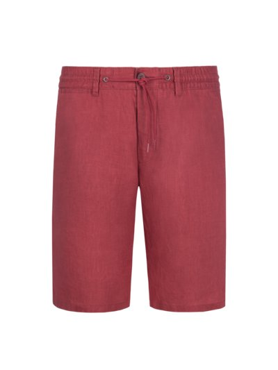 Linen Bermuda shorts with drawcord v RED
