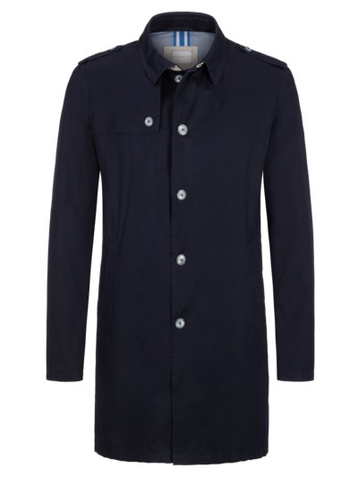 Stylish trench coat v BLUE
