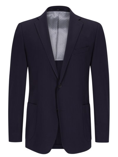 Blazer with micro texture in 'High Performance' wool v MARINE