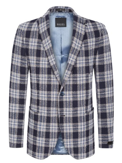 Blazer with fashionable check pattern v BLUE